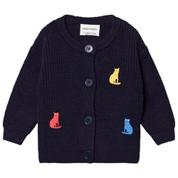 Bobo Choses Cats Cardigan Twilight Blue