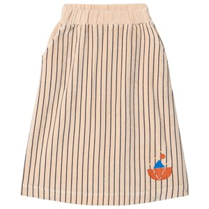 Image of Bonmot Organic Velvet Stripes Skirt Fog 2-3 år (1642782)