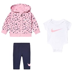 NIKE 3-piece Dot Outfit Navy