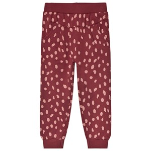 Image of Minymo Spot Sweatpants Oxblood Red 92 cm (1,5-2 år) (1584308)