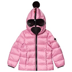 AI Riders on the Storm Goggle Down Padded Jacket Pink