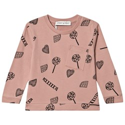 Sproet & Sprout Candy Land Pocket T-shirt Rosa