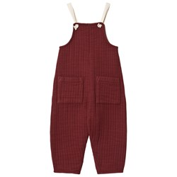 Liilu Quilted Jumpsuit Berry Red