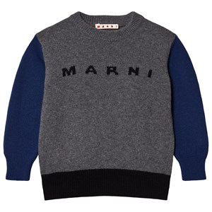 Image of Marni Color Block Branded Strikket Trøje Grå 12 years (1589794)