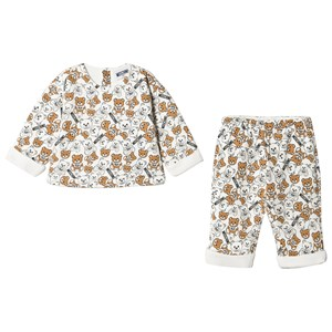 Image of Moschino Kid-Teen 2-delt Bear Padded Outfit Cremefarvet 9-12 months (1619713)