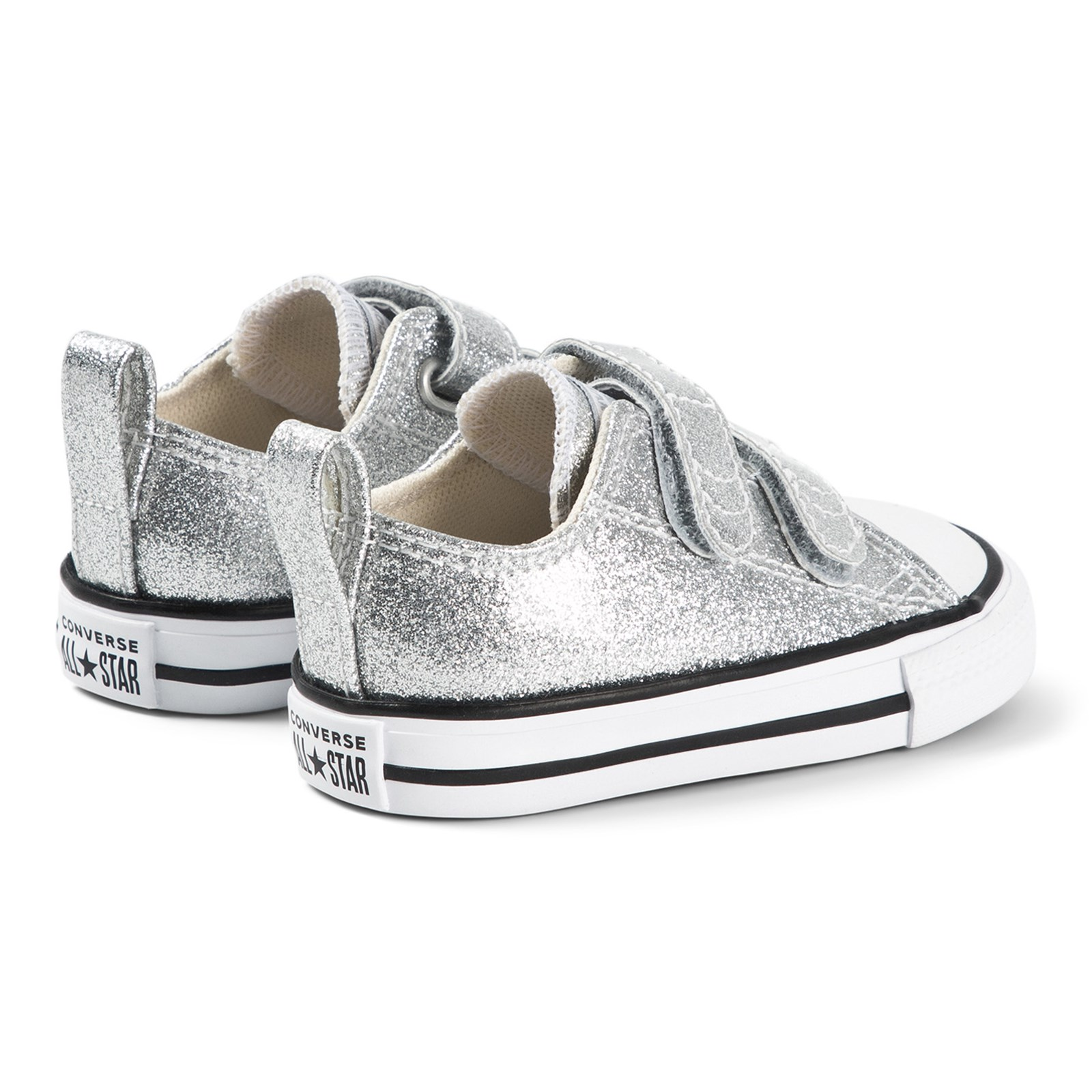 Converse - Chuck Taylor All Star OX Infants Velcro Sneakers Silver ...