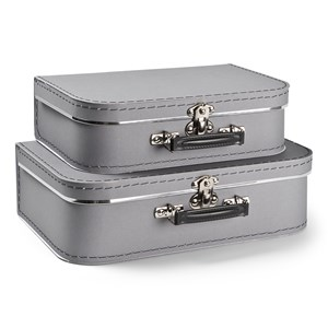 Image of JOX 2-Pack Suitcase Gray One Size (1644928)