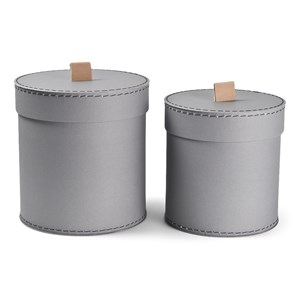 Image of JOX 2-Pack Round Boxes Gray One Size (1644932)