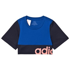 Image of adidas Performance Colorblock Croptop Blå 7-8 years (128 cm) (1587538)