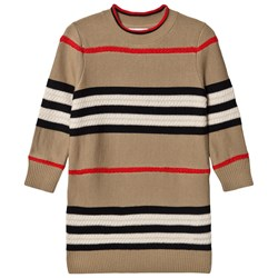 Burberry Icon Stripe Wool/Cashmere Sweater Dress Archive Beige