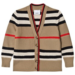Burberry Icon Stripe Wool/Cashmere Кардиган Archive Beige