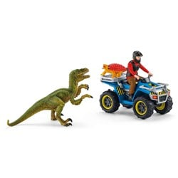 Schleich Quad Escape From Velociraptor Lekset