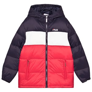 Image of Fila Brooklyn Colorblock Dunjakke Navyblå 134-140cm (9-10 years) (1669604)