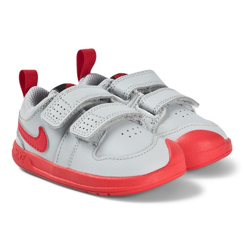 Grey and Red Pico 5 Infant Trainers