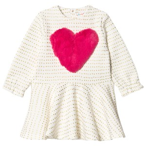 Image of Agatha Ruiz de la Prada Fluffy Heart Dress White 6 years (1589902)