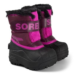 Sorel Toddler Snow Commander Boots Purple Dahlia/Groovy Pink