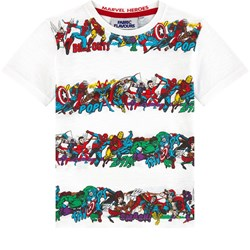Fabric Flavours Marvel Heroes Stripe T-shirt