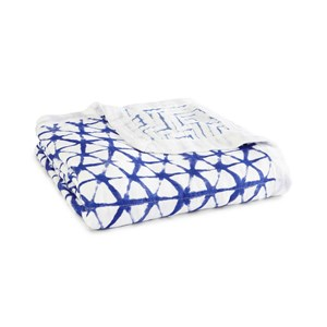 Image of Aden + Anais Indigo Shibori Silky Soft Dream Blanket One Size (726081)