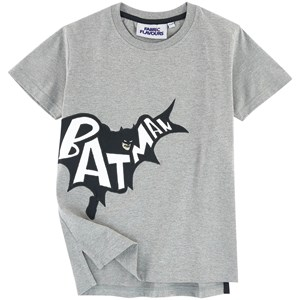 Image of Fabric Flavours Grey Batman Applique Tee 7-8 years (777599)