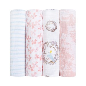 Image of Aden + Anais Birdsong Swaddles (4 Pack) One Size (836301)