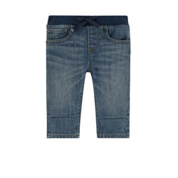 Burberry Branded Patch Pull Up Jeans Mid Indigo