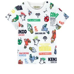 Kenzo Multi Icon and Food Fiesta Print T-shirt