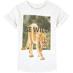 Mayoral Grey Lion Graphic and Slogan Back Tee