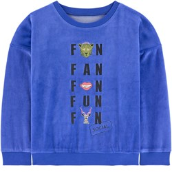Gardner and the gang The Classic Velour Sweatshirt Social Fan Club Navy Blue