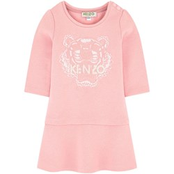 Kenzo Pink Marl Tiger Embroidered Dress