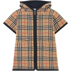 Burberry Knit Check Cape Archive Beige