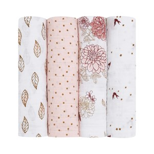 Image of Aden + Anais 4-Pack Classic Swaddles Dahlias One Size (1484959)