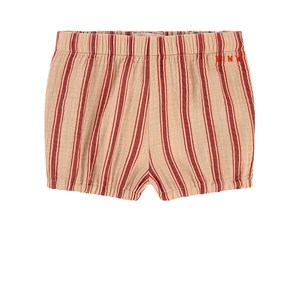 Image of Tinycottons Retro Stripes Baby Balloon Shorts Lys Nude/Mørke Brun 12 mdr (1522555)