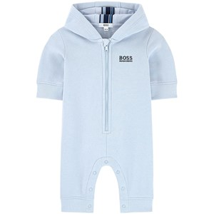 Image of BOSS Pale Blue Hooded Footless Babygrow 3 months (1621491)