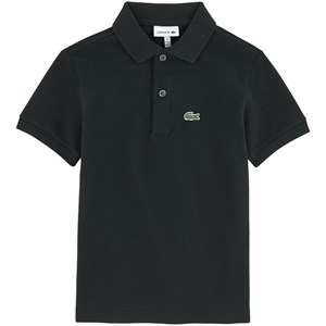 Image of Lacoste Black Pique Branded Polo 10 år (556545)
