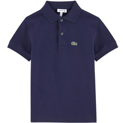 Lacoste Navy Jersey Branded Polo