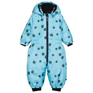 Image of Småfolk Apple Baby Overall Blue Grotto 0-6 mdr (1584025)