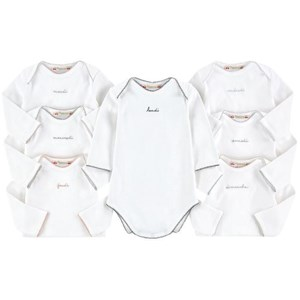 Image of Bonpoint 7-Pack White Days of the Week Baby Bodies 1 mdr (1698719)