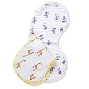 Image of Aden + Anais 2-Pack Jungle Jam Classic Burpy Bibs One Size (1105257)