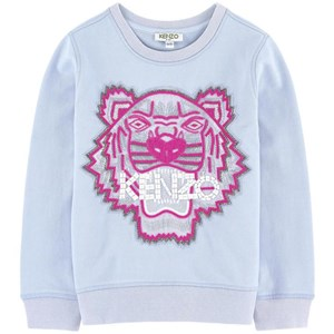 Image of Kenzo Blue Beaded and Embroidered Tiger Sweatshirt 8 years (648057)