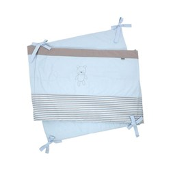 Absorba Linen Bed Bumper Light blue