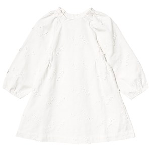Bonpoint Twill Floral Embroidered Kjole Hvid 8 years