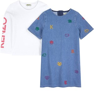 Image of Kenzo Branded Denim Dress Blue 5 years (1592458)