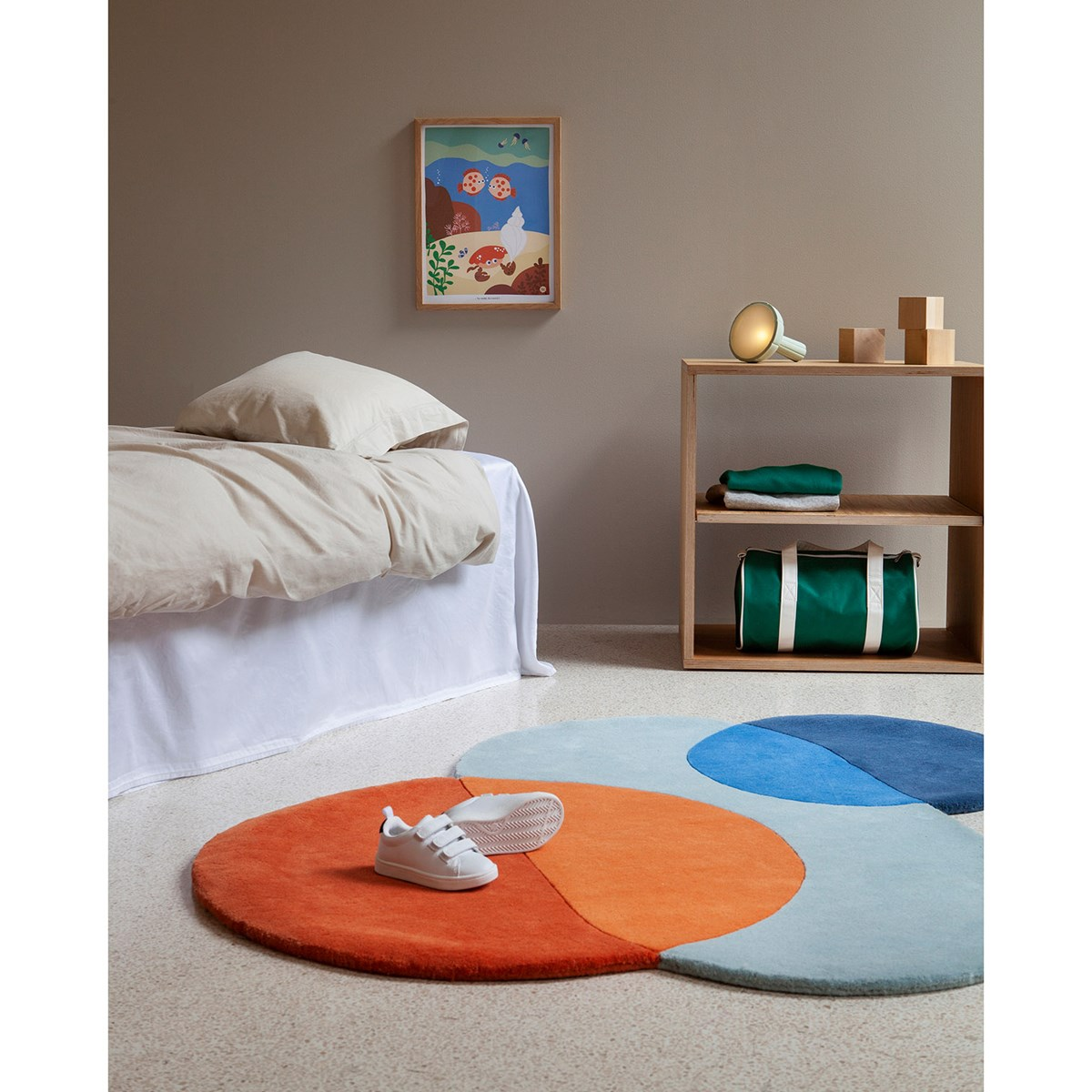 Blafre Hand Tufted Rug Blue Babyshop Com