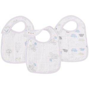 Image of Aden + Anais Pack of 3 bibs 30x22 cm (11.8 x 10.2 inches) - Night Sky Reverie one size (1674621)