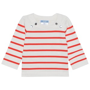 Image of Jacadi Red and Cream Stripe Long Sleeve Tee 6 mdr (1665701)