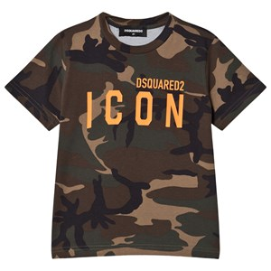 Image of DSquared2 Camo Icon T-Shirt Green 10 years (1587701)