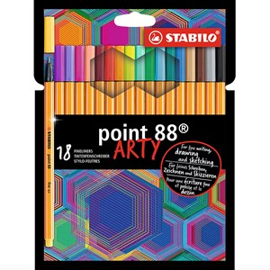 Image of STABILO 18-Pack Point 88 ARTY Fineliner Pens Multicolor 9 months - 3 years (1673915)