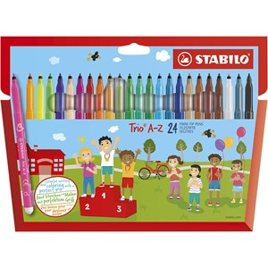 Image of STABILO Trio A-Z Fibre-tip Pen 24-pack 9 months - 3 years (1673925)