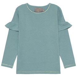 Creamie Ruffle T-shirt Teal Green