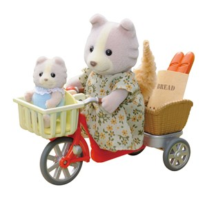 Image of Sylvanian Families Cycling With Mother Play Sæt 3 - 11 år (1696051)